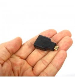 Dark Micro HDMI to HDMI Dönüştürücü Cep Telefonu, Tablet, Ultrabook, Kamera için (HDMI Dişi - Micro HDMI Erkek)