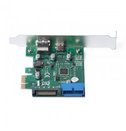 Dark USB 3.1 Gen1 Type-C + Type-A + 19pin USB3.0 PCI-E x1 Kart