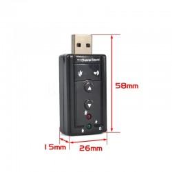 Dark USB2.0  7.1 Stereo Ses Efektli Ses Kartı (Windows ve MAC Destekli)