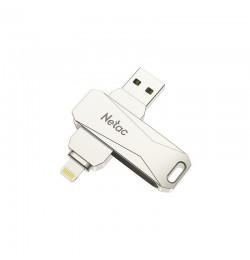 Netac Usb Drive 128 GB Lightning+USB 3.0